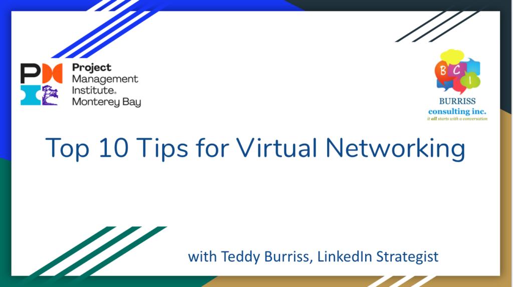 Teddy Burriss - LinkedIn Strategist, Trainer & Coach providing LinkedIn Training - Virtual Networking Presentation.